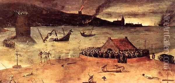 The Triumph of Death (detail) 1562 9 Oil Painting - Jan The Elder Brueghel