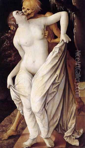 Death and the Maiden 1518-20 Oil Painting - Hans Baldung Grien