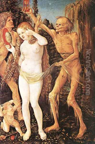 Three Ages Of The Woman And The Death 1510 Oil Painting - Hans Baldung Grien