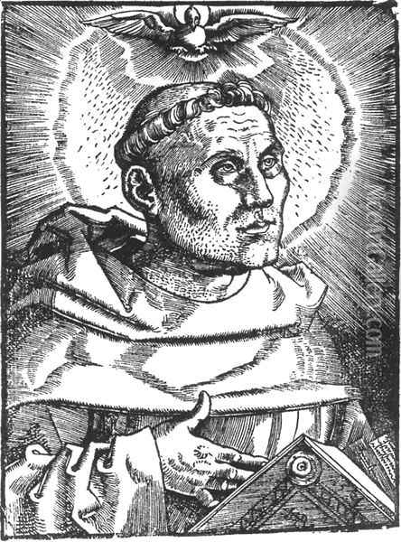 Portrait of Martin Luther 1521 Oil Painting - Hans Baldung Grien