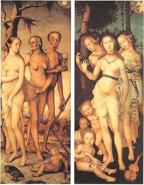 Three Ages Of Man And Three Graces 1539 Oil Painting - Hans Baldung Grien