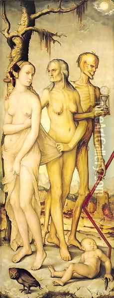 The Three Ages of Man and Death Oil Painting - Hans Baldung Grien