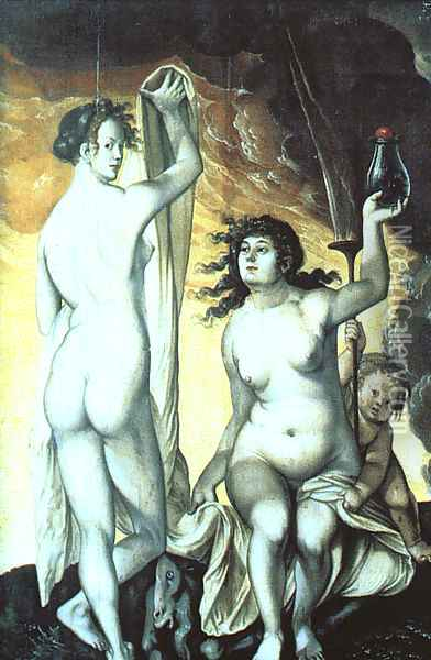 Sacred and Profane Love Oil Painting - Hans Baldung Grien