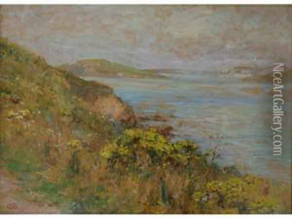 Gorse On The Cliffs Oil Painting - Ernst Walbourn