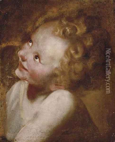 Study of the Head of the Christ Child Oil Painting - Federico Fiori Barocci
