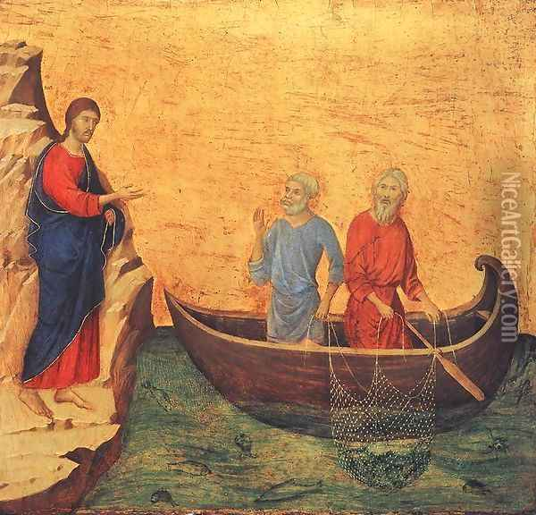 Calling of Peter and Andrew 1308-11 Oil Painting - Duccio Di Buoninsegna