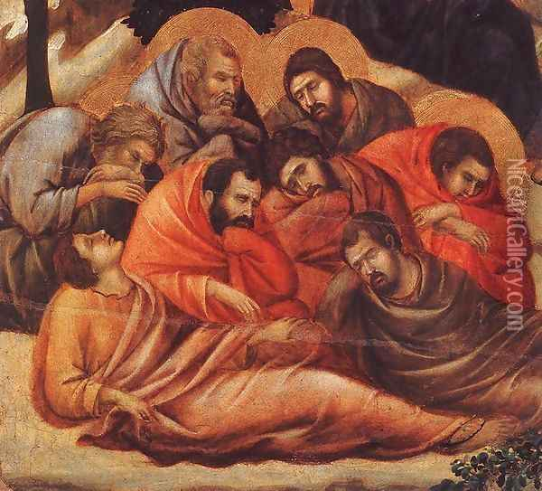 Agony in the Garden (detail 2) 1308-11 Oil Painting - Duccio Di Buoninsegna