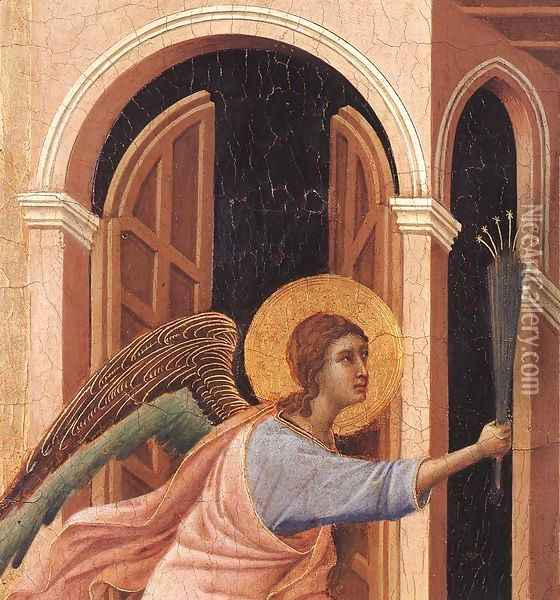 Announcement of Death to the Virgin (detail 2) 1308-11 Oil Painting - Duccio Di Buoninsegna