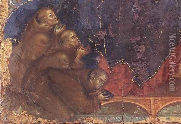 Madonna of the Franciscans (detail) c. 1300 Oil Painting - Duccio Di Buoninsegna