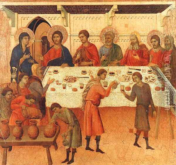 Wedding at Cana 1308-11 Oil Painting - Duccio Di Buoninsegna