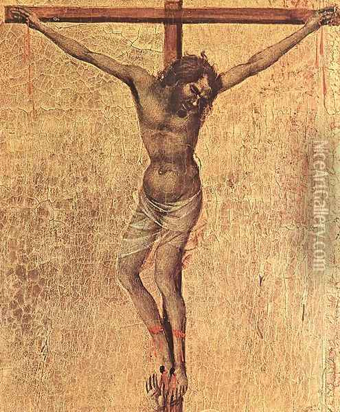 Crucifix (detail 1) 1308-11 Oil Painting - Duccio Di Buoninsegna