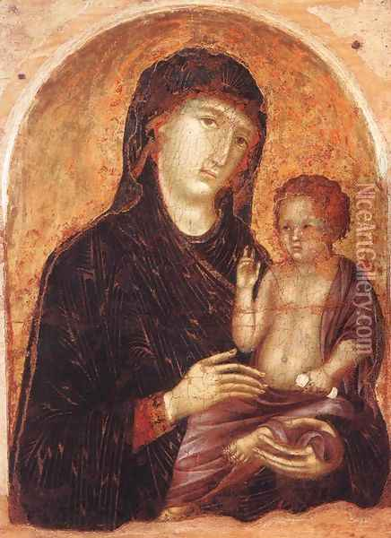 Madonna and Child 1295-1305 Oil Painting - Duccio Di Buoninsegna
