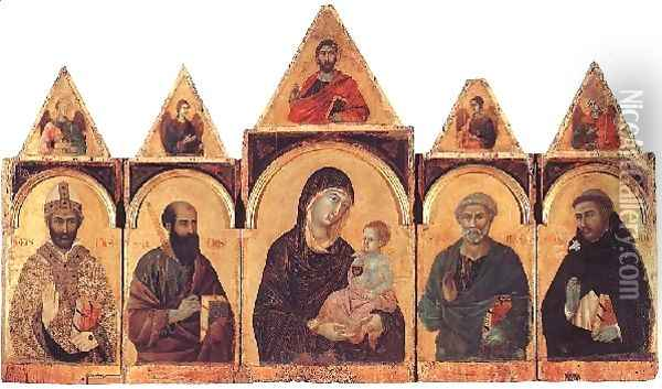 Polyptych No. 28, 1300-05 Oil Painting - Duccio Di Buoninsegna