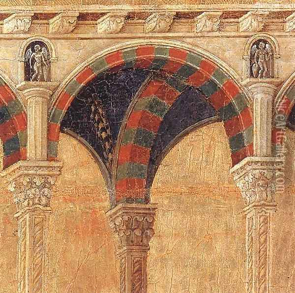 Disputation with the Doctors (detail) 1308-11 Oil Painting - Duccio Di Buoninsegna