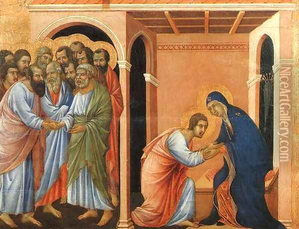 Parting from St John 1308-11 Oil Painting - Duccio Di Buoninsegna