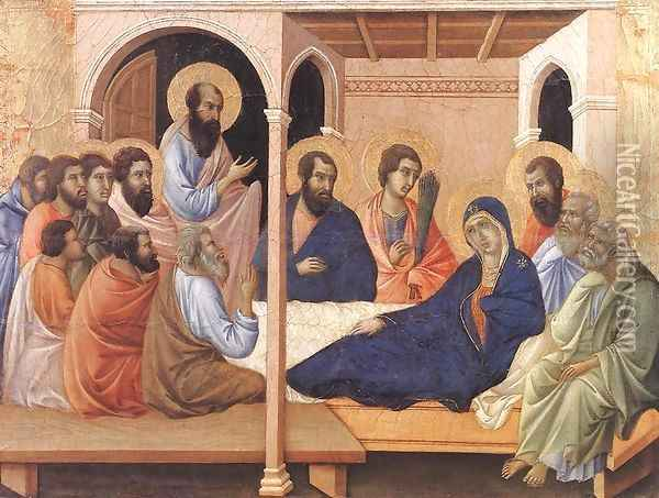 Parting from the Apostles 1308-11 Oil Painting - Duccio Di Buoninsegna