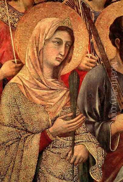 Maesta (detail 4) 1308-11 Oil Painting - Duccio Di Buoninsegna