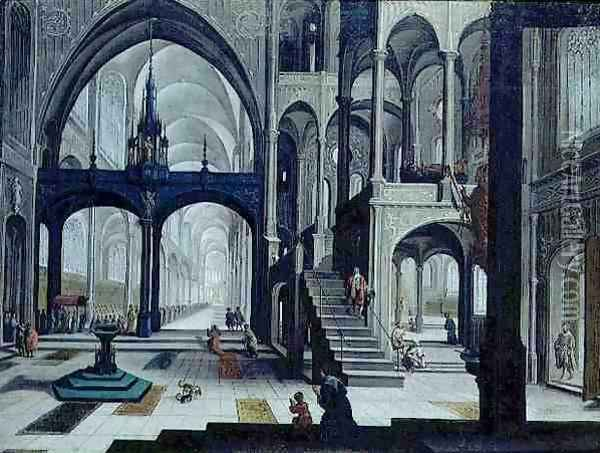 Procession in a Cathedral Oil Painting - Bartholomeus Van Bassen