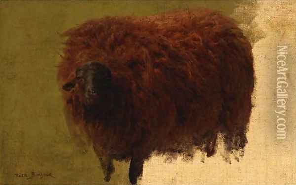 Large Wooly Sheep Oil Painting - Rosa Bonheur