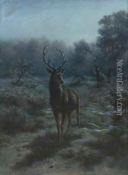 King of the forest 1897 Oil Painting - Rosa Bonheur
