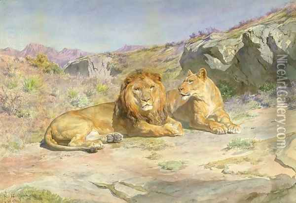Royalty at Home Oil Painting - Rosa Bonheur