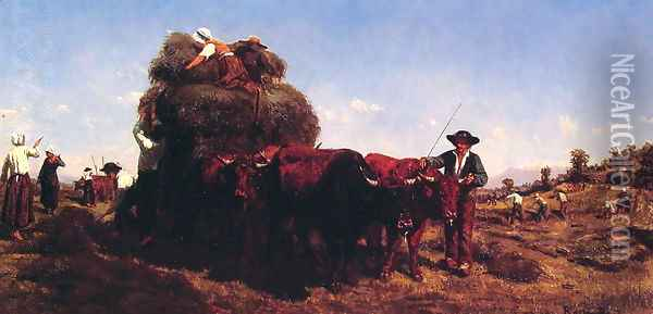 The Return from the Harvest Oil Painting - Rosa Bonheur