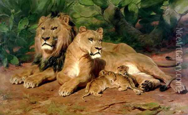 The Lion at Home 1881 Oil Painting - Rosa Bonheur