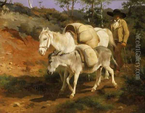 Return from the Mill Oil Painting - Rosa Bonheur