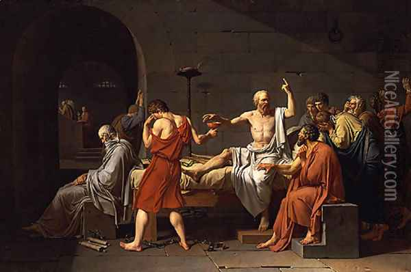 The Death of Socrates 1787 Oil Painting - Rosa Bonheur