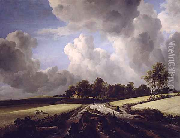 Wheat Fields 1670 Oil Painting - Rosa Bonheur