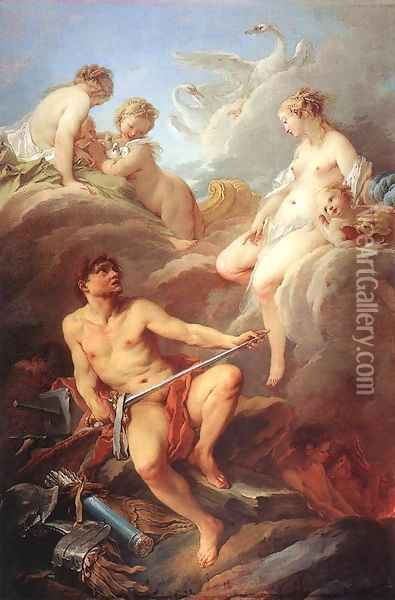 Venus Demanding Arms from Vulcan for Aeneas, 1732 Oil Painting - Francois Boucher