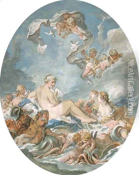 The Birth and Triumph of Venus Oil Painting - Francois Boucher