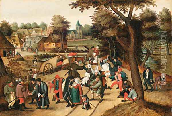 The Return from the Kermesse 2 Oil Painting - Pieter The Younger Brueghel