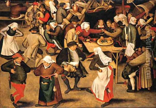 The Wedding Feast Oil Painting - Pieter The Younger Brueghel