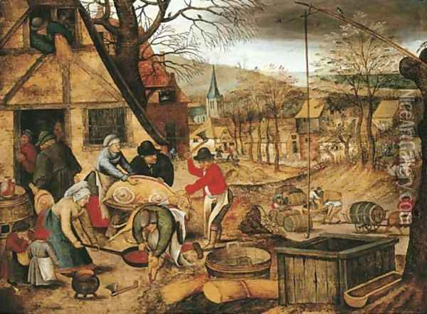 Autumn An Allegory of one of the Four Seasons Oil Painting - Pieter The Younger Brueghel