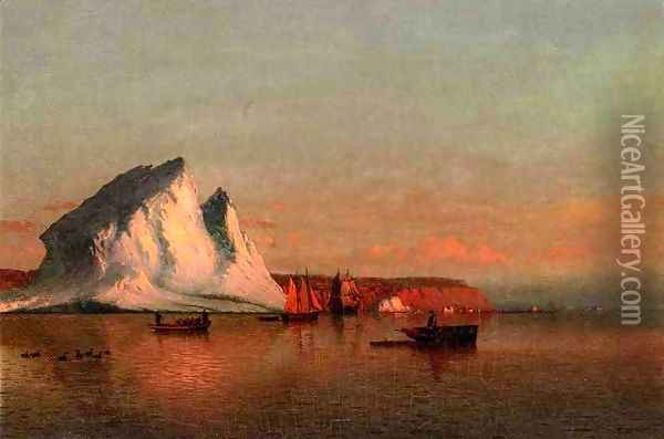 A Calm Afternoon, the Coast of Labrador Oil Painting - William Bradford