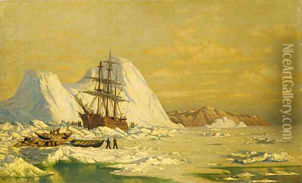 An Incident Of Whaling Oil Painting - William Bradford