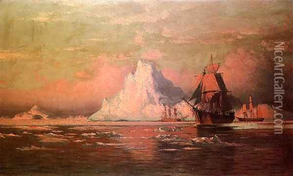 Whalers After the Nip in Melville Bay Oil Painting - William Bradford