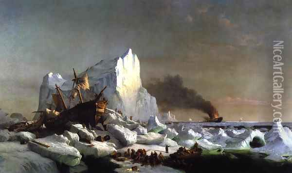 Sealers Crushed by Icebergs Oil Painting - William Bradford