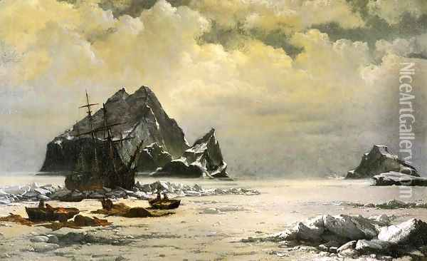 Morning On The Artic Ice Fields Oil Painting - William Bradford