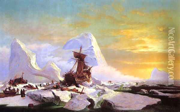 Crushed In The Ice Oil Painting - William Bradford
