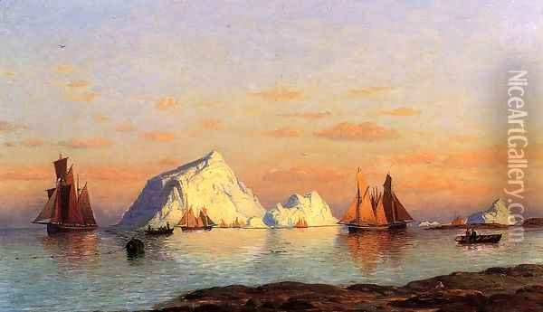 Fishermen Off The Coast Of Labrador Oil Painting - William Bradford