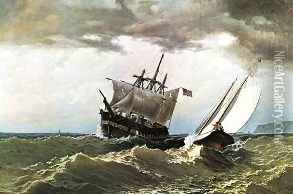 After the Storm Oil Painting - William Bradford