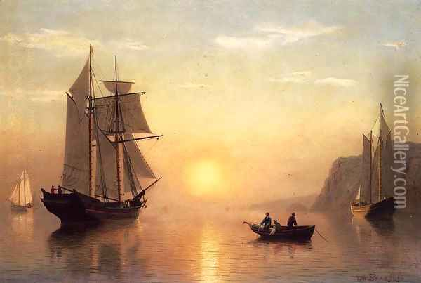 Sunset Calm in the Bay of Fundy Oil Painting - William Bradford