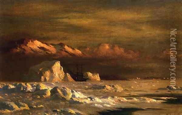 Ship and Icebergs Oil Painting - William Bradford