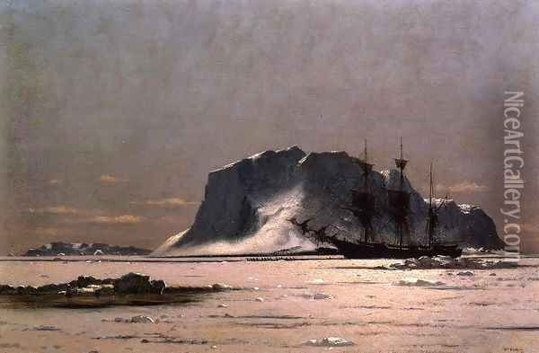 Freeing a Square Rigger Oil Painting - William Bradford