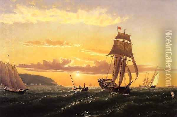 Sunrise on the Bay of Fundy Oil Painting - William Bradford