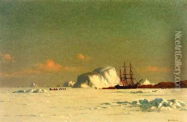 In the Arctic Oil Painting - William Bradford