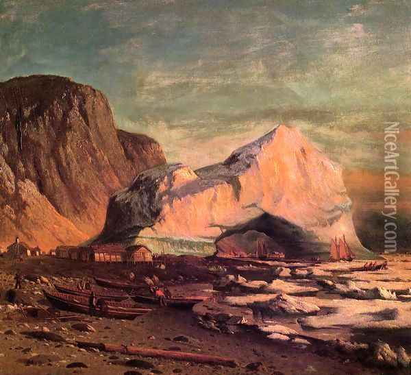 The Ice Gate of Cape St. Michael Oil Painting - William Bradford
