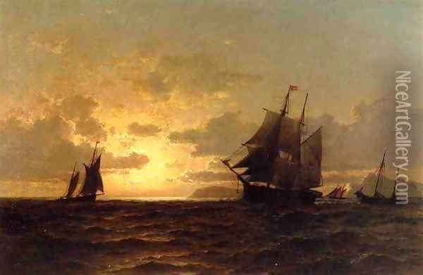 Return of the Whales Oil Painting - William Bradford